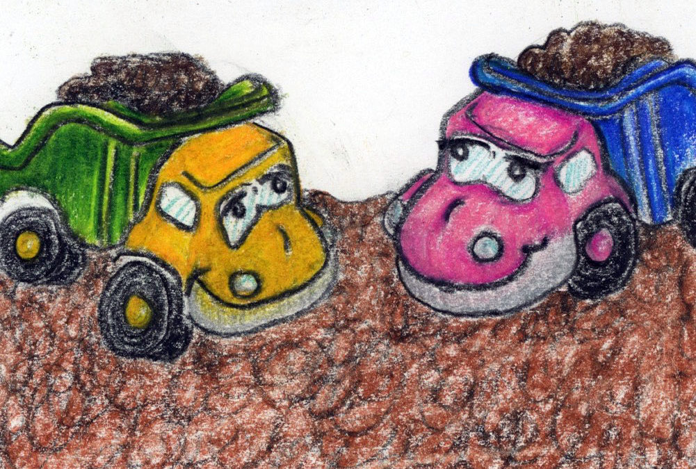 Double Dump Trucks: kids short story and meditation