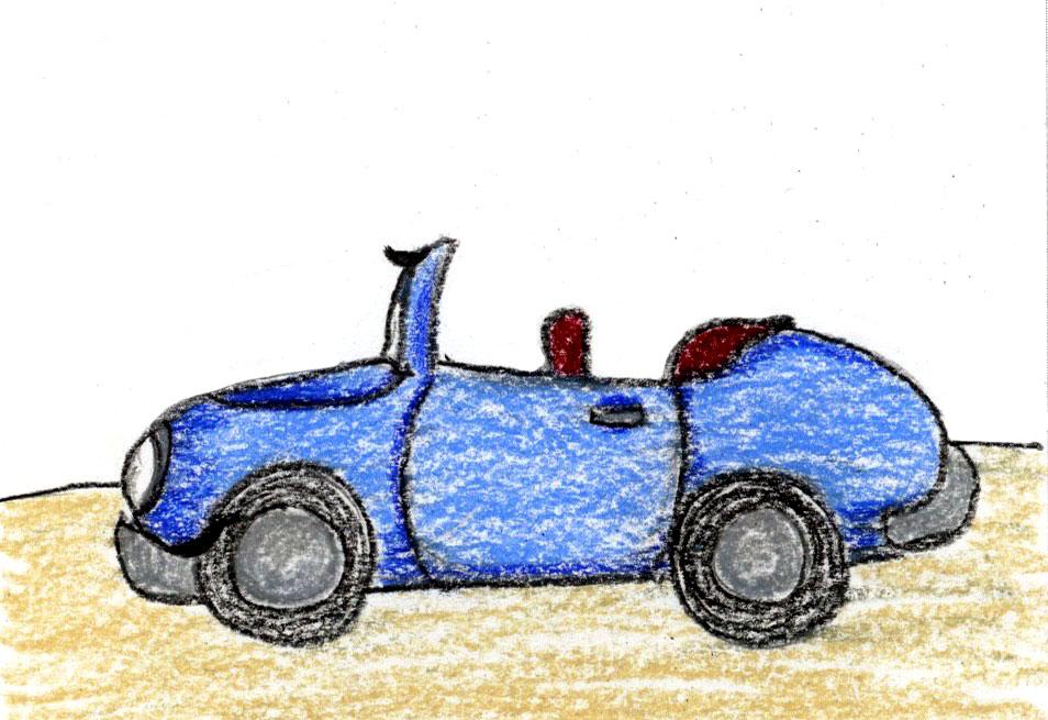Carmen blue convertible